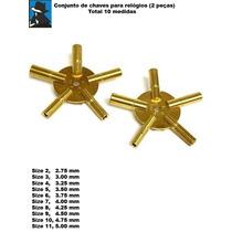 Conjunto De Chaves Para Relógios 2 Peças Com 10 Medidas Novo