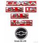 Kit Emblemas Corsa Sedan Gls 1.6 - 96 À 99 - Modelo Original