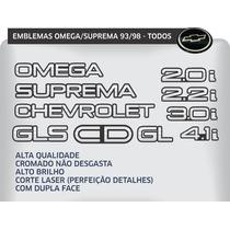 Letreiro Emblema Omega Suprema 2.2, 4.1, 2.0, 3.0, Cd, Gls