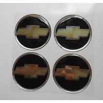 Jogo De Emblemas Gm 48mm( Preto C/ Dourado ) Calotas E Rodas
