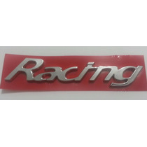 Emblema Racing Cromado Universal Gm Fiat Ford Vw