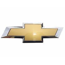 Emblema Dourado Gm Com Borda Cromada Agile /corsa