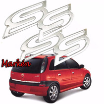 Kit Emblema Ss Super Sport Corsa Meriva Astra Original Gm