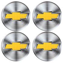 Jogo De Botons Chevrolet Gm Calota Ou Roda 4 Peças 48mm