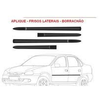 Jgo De Friso Lateral Preto Largo Corsa 98/06 Preto 4 Portas