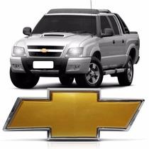 Emblema Gm Dourado Grade Dianteira S10 Blazer 2009 2010 2011