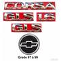 Kit Emblemas Corsa Hatch Gls 1.6 - 97 À 99 - Modelo Original