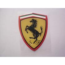 Emblema Adesivo Escudo Ferrari Resinado