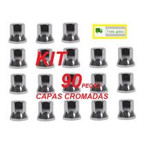 Capa Porca Roda Cromada Caminhão (kit C/ 90 Unid Frete Pago)