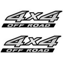 Par Dois Adesivos 4x4 Off Road Nissan Frontier 2010/...