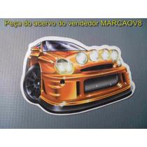 Adesivo Com O Desenho De Um Subaru De Rally Turbinado Tunado