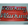 Emblema Cromado Working Fiat Strada 2001 Acima