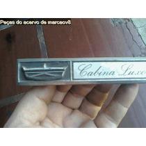 Emblema Cabina Luxo De Metal Da Pick Up Ford F100 F1000
