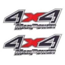 Dois Adesivos 4x4 Max Power F250 F-250 Ford Preto+ Brinde