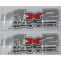 Dois Adesivos 4x2 Max Power F250 F-250 Ford + Brinde