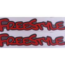 Dois Adesivos Freestyle Vermelho Ecosport + Brinde