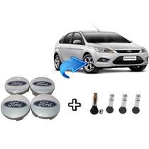4 Calotinhas Emblema Ford Focus Rodas/calota 51 Mm + Brindes