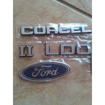 Kit Emblema Insignia Corcel Ii Ldo + Simbolo Ford Mala