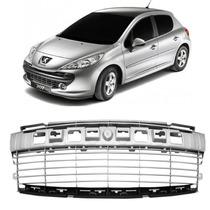 Grade Parachoque Peugeot 207 2008 2009 2010 2011 2012 Prata