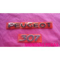 Kit Emblema Nome Peugeot 307 Cromado