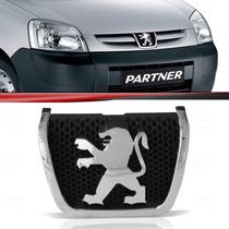 Emblema Grade Peugeot Partner 10 11 12 Cromado Fundo Preto