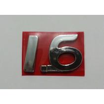 Emblema 1.6 Sandero Logan Clio Renault + Brinde
