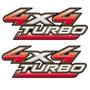 Par 2 Adesivos 4x4 Turbo Hilux 09 10 11 12 13 14 15 16/...