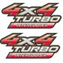 Par 2 Adesivos 4x4 Turbo Intercooler Hilux 09 10 11 12 13/..