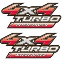 Par 2 Adesivos 4x4 Turbo Intercooler Hilux 09 10 11 12 13/..