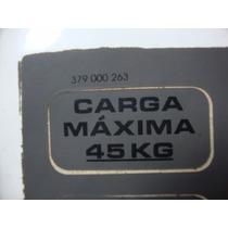 Etiqueta Carga Máxima Bagageiro Parati G2 G3 G4 Original Vw