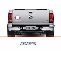 Emblema Volkswagen Amarok Cromado Traseiro Tampa Traseira