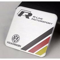 Emblema Adesivo Volkswagen R-line Rline Vw Jetta Golf Tiguan