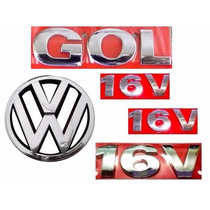 Emblema Gol G3 + 16v + Vw Grade- Geração 3 - Modelo Original