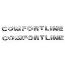 2 Emblemas Comfortline 2 Un. + Brinde Gol Golf Voyage Parati