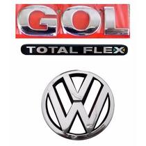 Emblema Gol G3 Flex + Vw Grade - Geração 3 - Modelo Original