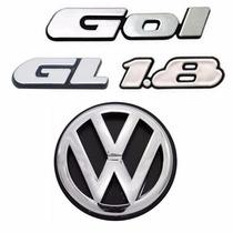 Kit Emblemas Gol Quadrado Gl 1.8 + Vw Mala - Modelo Original