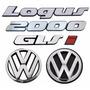 Kit Emblemas Volkswagen Logus Glsi 2000 - Modelo Original