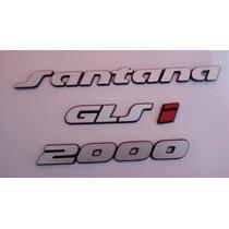 Kit Emblemas Tampa Traseira Santana Glsi 2000 93/97