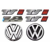 Emblema Gol Bola Tsi 1.8 + Vw Grade E Mala - Modelo Original
