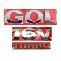 Emblema Gol G3 + 16v Turbo - Geração 3 - Modelo Original