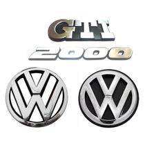 Emblemas Gol Bola Gti 2000 + Vw Da Grade - Modelo Original