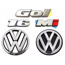 Emblemas Gol Bola 1.6 Mi + Vw Grade E Mala - Modelo Original