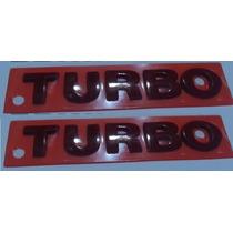 2 Emblemas Turbo Pq. Verm. 2 Un. + Brinde Gol Golf Parati