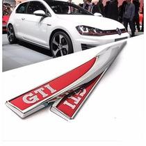 Par Adesivo Emblema De Metal Golf Gti Lateral Frete Gratis