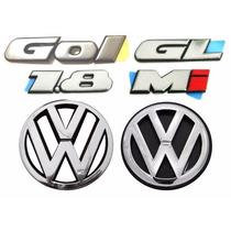 Emblemas Gol Bola Gl 1.8 + Vw Grade E Mala - Modelo Original