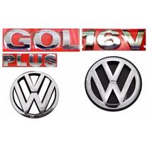 Kit Emblemas Gol G3 Plus 16v - Geração 3 - Modelo Original