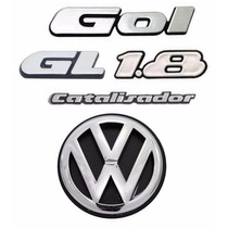 Emblemas Volkswagen Gol Quadrado Gl 1.8 - Kit Com 5 Itens!