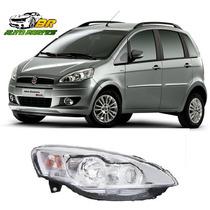 Farol Cromado Fiat Idea 2010 2011 2012 2013 2014