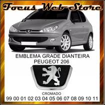 Emblema Grade Dianteira Peugeot 206 1999 A 2011