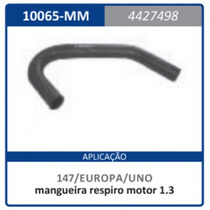 Mangueira Respiro Motor 1.3 Cc Fi 4.427.498 Uno:1984a1990
